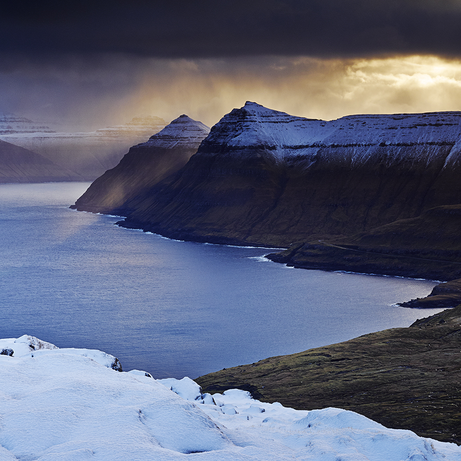 Storm Light Funningfjordur The Faroe Islands Photograph by Steve Gosling